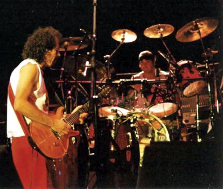 Walfredo Reyes, Jr., and Carlos Santana