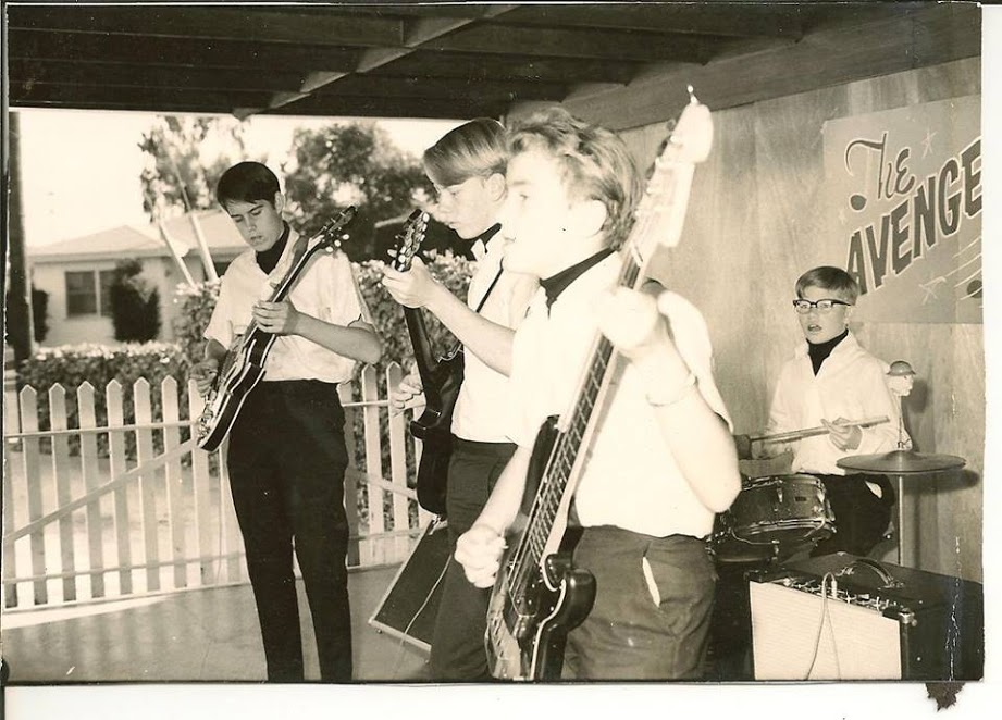 First band -- The Avengers -- in San Diego, circa 1963.
