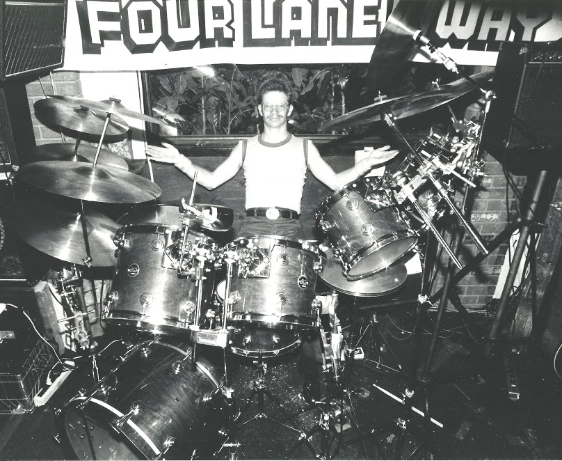 Gigging with Four Lane HyWay -- house band at Moose McGillyCuddy's in Waikiki, Hawaii -- 1983.