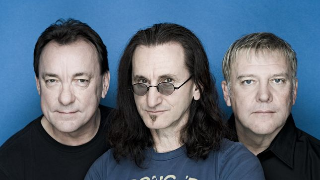 Rush (from l. to r., Neil Peart, Geddy Lee, and Alex Lifeson)