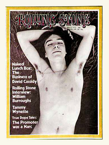 David Cassidy on the cover of Rolling Stone in 1972