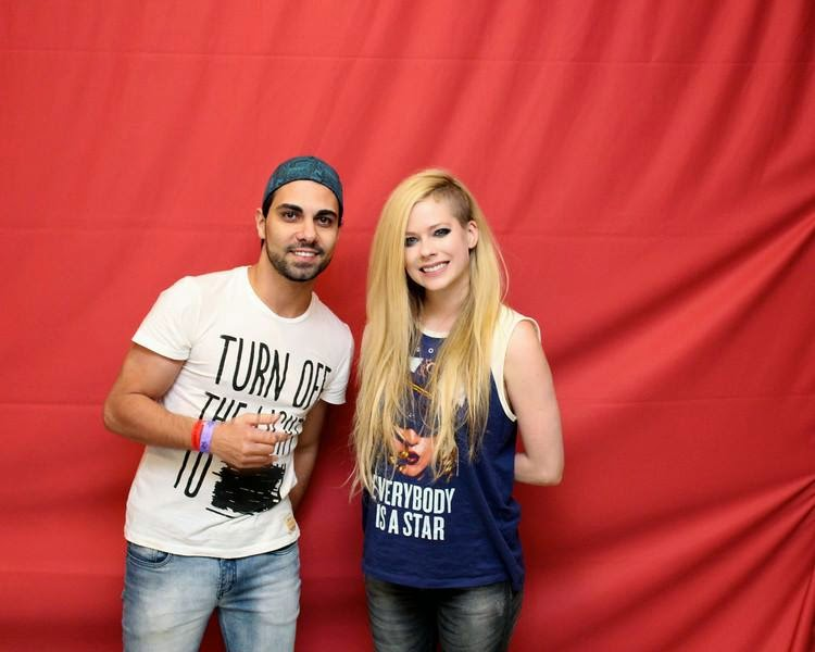 Avril Lavigne at a meet and greet