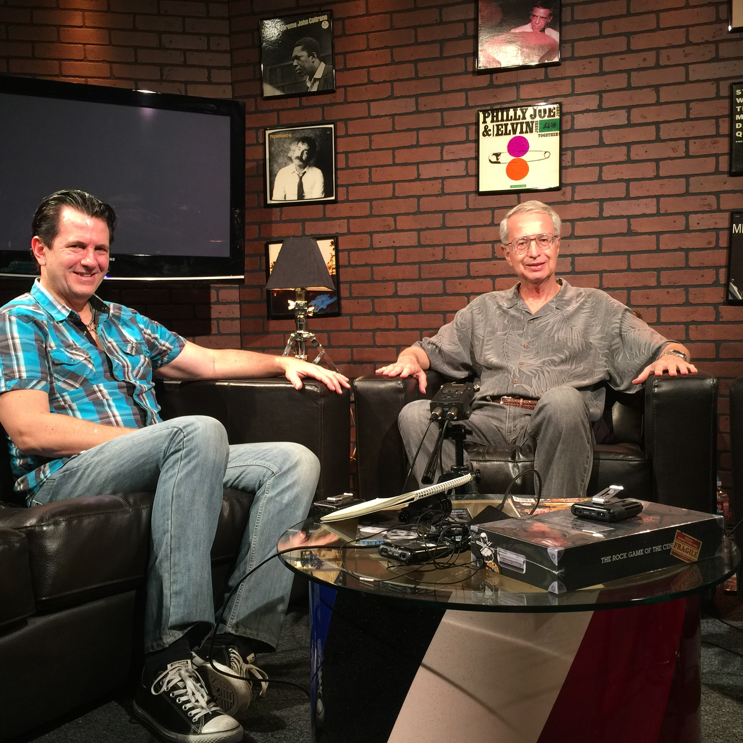 Don Lombardi and I on the set of the Drum Channel
