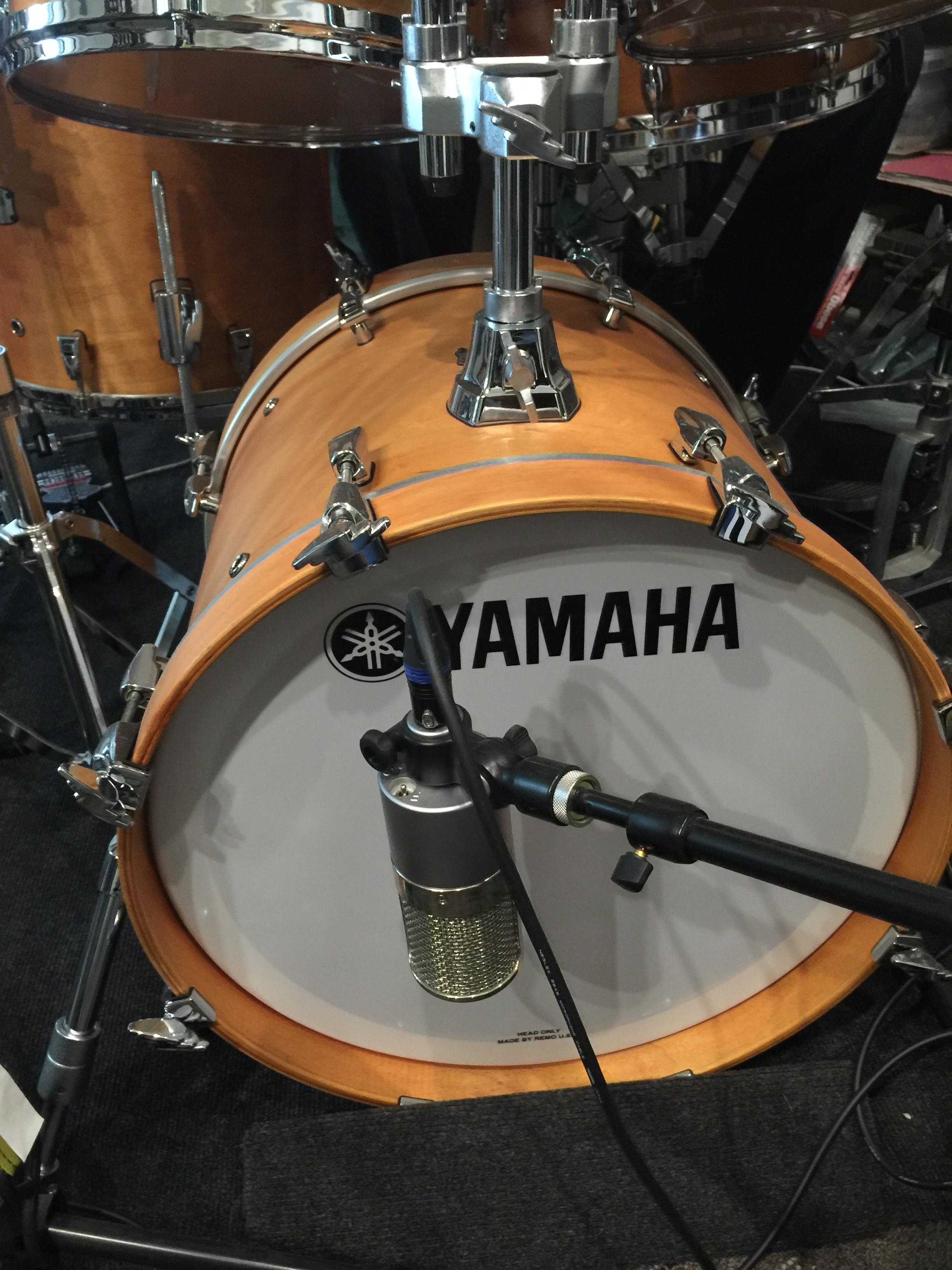 Steve Schaeffer's beautiful Yamaha kit