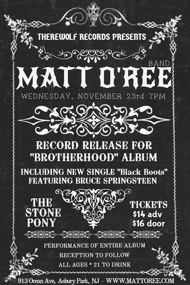 Promotional poster for the record release party