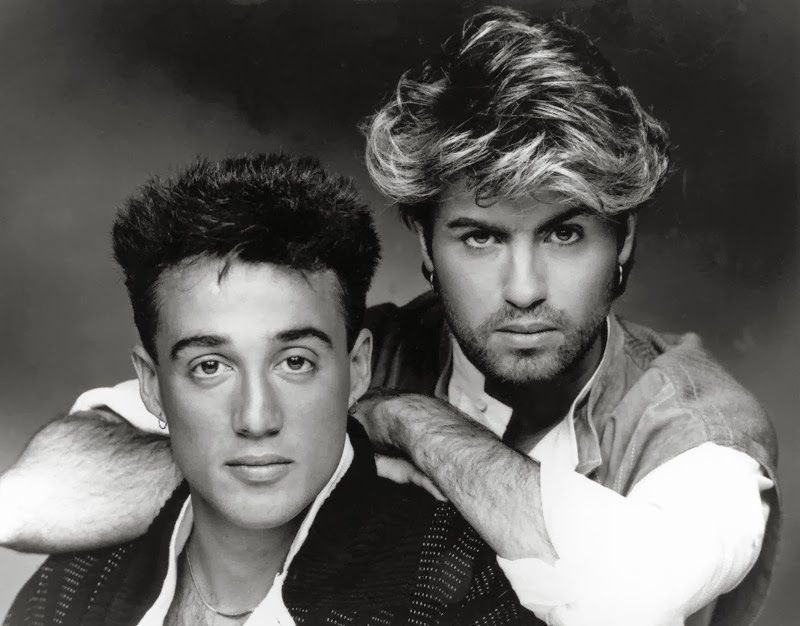 Wham (Andrew Ridgeley (l.) and George Michael (r.))