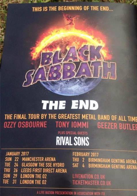 Sabbath The End tour poster